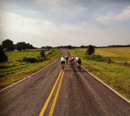 Country bicycle ride with the Burlington Velo Club through the farmland of Guliford County North Carolina
